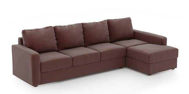 Apollo Sofa (Burgundy, Leatherette Sofa Material, Compact Sofa Size, Soft Cushion Type, Sectional Sofa Type, Sectional Master Sofa Component)