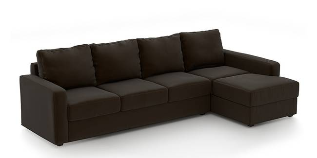 Apollo Sofa (Chocolate, Leatherette Sofa Material, Compact Sofa Size, Soft Cushion Type, Sectional Sofa Type, Sectional Master Sofa Component)