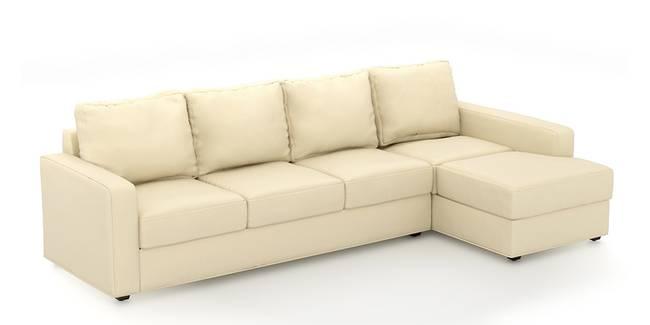 Apollo Sofa (Cream, Leatherette Sofa Material, Compact Sofa Size, Soft Cushion Type, Sectional Sofa Type, Sectional Master Sofa Component)