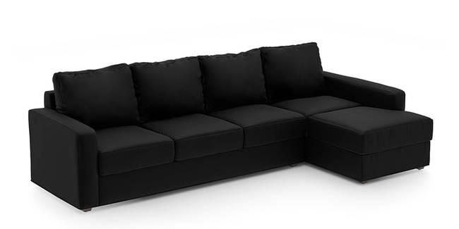 Apollo Sofa (Licorice, Leatherette Sofa Material, Compact Sofa Size, Soft Cushion Type, Sectional Sofa Type, Sectional Master Sofa Component)