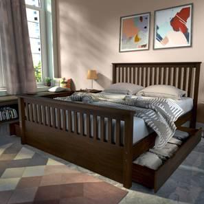 Athens Storage Bed (Queen Bed Size, Dark Walnut Finish)