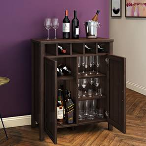 Norland Bar Cabinet (Dark Walnut Finish)