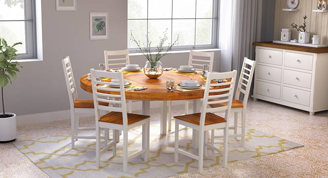 Nashville maysville 6 seater round dining table set for Dining table nashville tn