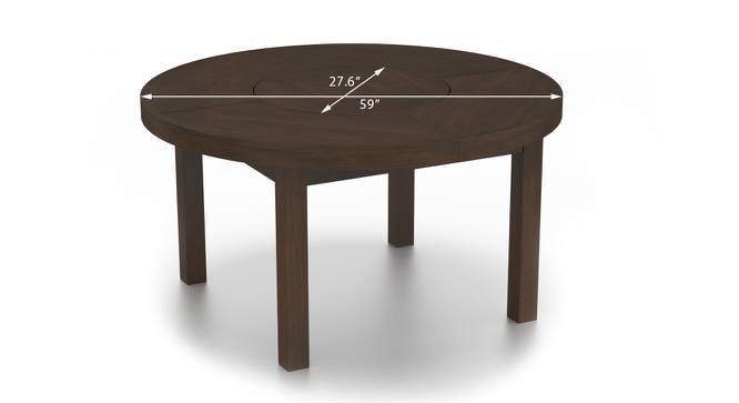 Nashville 6 seater round dining table with lazy susan for Dining table nashville tn