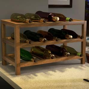 Hakone Countertop Wine Rack (Dark Acacia Finish)