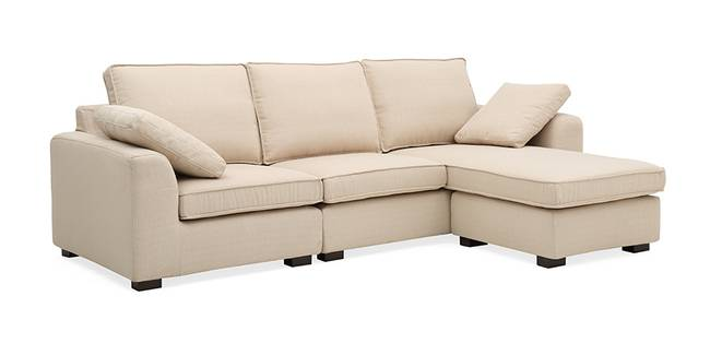 Connery Convertible Sofa (Beige) (Beige, Fabric Sofa Material, Regular Sofa Size, Regular Sofa Type)