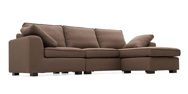 Connery Convertible Sofa (Brown) (Brown, Fabric Sofa Material, Regular Sofa Size, Regular Sofa Type)