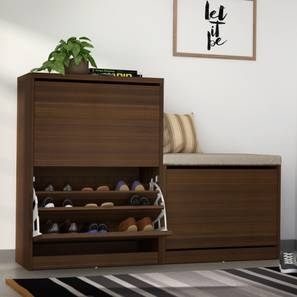 Pointe Shoe Cabinet (Walnut Finish, With Seating Configuration, 21 ...
