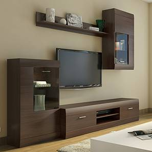 Tv Design Furniture Ferdinand Entertainment Unit Set 1 Dark Oak Finish