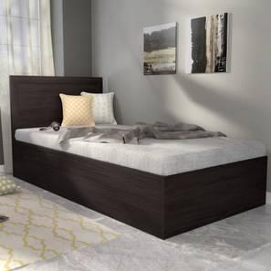 Covelo Storage Single Bed (Wenge Finish, Single Bed Size, Box Storage Type)