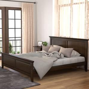 Somerset Bed (King Bed Size, Dark Walnut Finish)