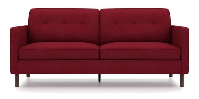Optimus Sofa (Red, Fabric Sofa Material, Regular Sofa Size, Soft Cushion Type, Regular Sofa Type, Master Sofa Component, Yes Tufting, Round Wooden Leg Design, Standard Arm Arm Set)