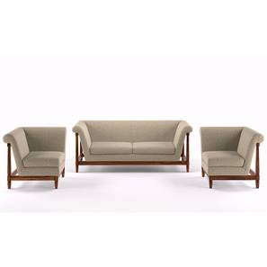 Malabar Wooden Sofa Standard Set 3-1-1 (Macadamia Brown)
