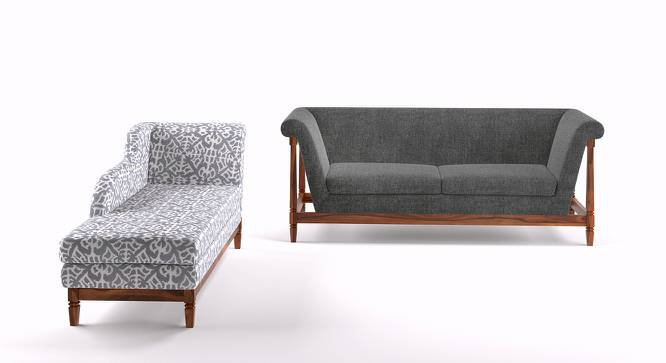 Malabar wooden sofa 3 seater with chaise urban ladder for 3 seater sofa with chaise