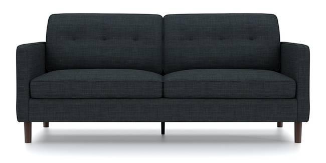 Optimus Sofa (Dark Grey, Fabric Sofa Material, Regular Sofa Size, Soft Cushion Type, Regular Sofa Type, Master Sofa Component, Yes Tufting, Round Wooden Leg Design, Standard Arm Arm Set)