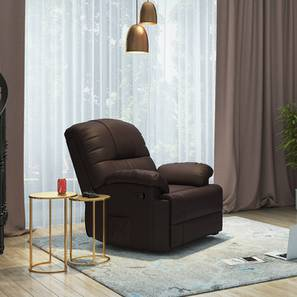Cooper Rocker Recliner (Chocolate Brown, Leatherette Material)