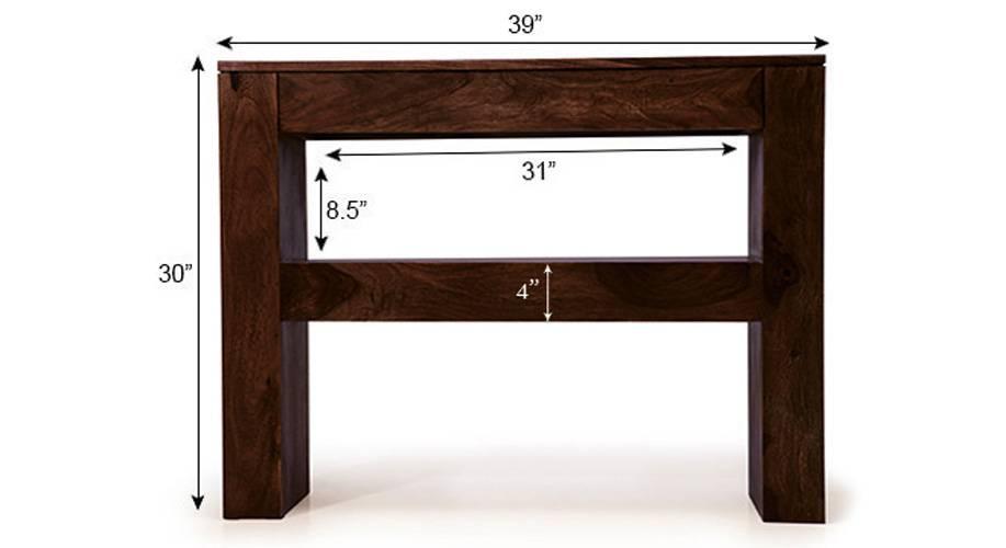 Epsilon console table urban ladder for 10 inch depth console table