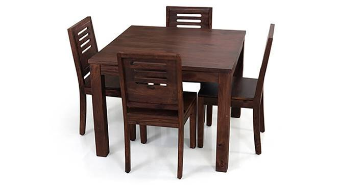 square capra 4 seater dining table set arabia square capra 4