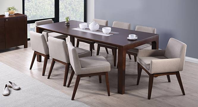 Arco leon 8 seater dining table set urban ladder for 8ft dining room table
