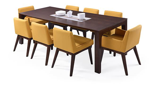 Arco leon 8 seater dining table set urban ladder for Leon s dining room tables