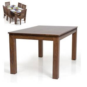 Arabia 6 Seater Dining Table (Teak Finish)