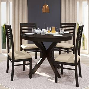 Wesley Thomson 4 Seater Round Gl Top Dining Table Set Urban