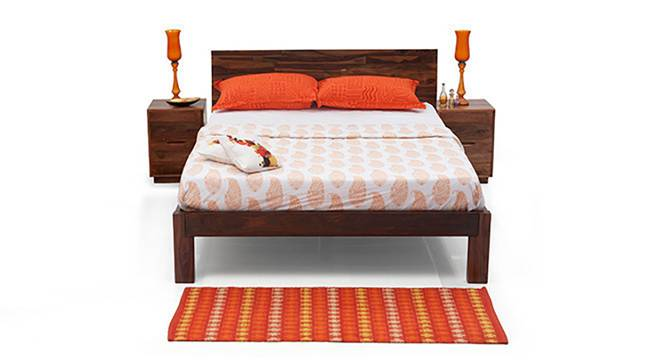 Boston Essential Bedroom Set Teak Finish Urban Ladder