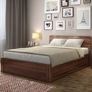 Boston Hydraulic Storage Bed (Teak Finish)
