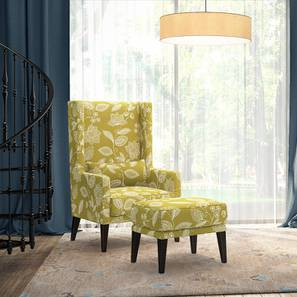 Morgen Wing Chair & Ottoman (Olive Vines)