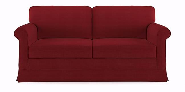 Cambridge Sofa (Red) (Red, 1-seater Custom Set - Sofas, None Standard Set - Sofas, Fabric Sofa Material, Regular Sofa Size, Regular Sofa Type)