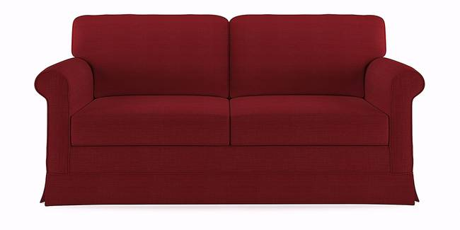 Cambridge Sofa (Red) (Red, 1-seater Custom Set - Sofas, None Standard Set - Sofas, Fabric Sofa Material, Regular Sofa Size, Regular Sofa Type)