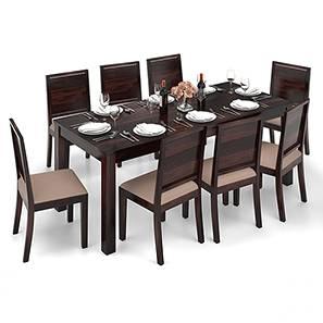 arabia xxl oribi 8 seater dining table set mahogany finish wheat brown - 8 Seater Dining Table