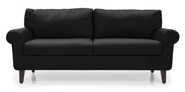 Oxford Leatherette Sofa (Licorice) (Licorice, Leatherette Sofa Material, Regular Sofa Size, Regular Sofa Type)