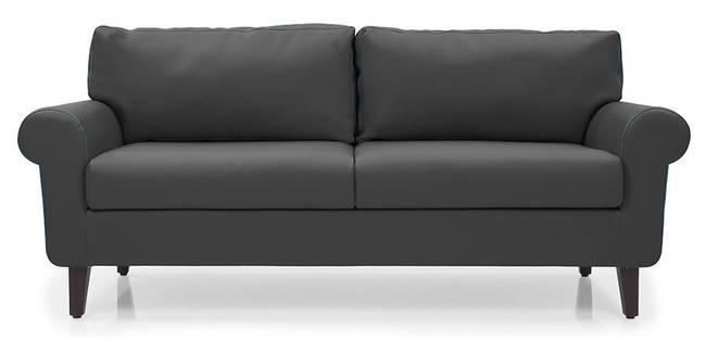 Oxford Leatherette Sofa (Thundercloud) (Thundercloud, Leatherette Sofa Material, Regular Sofa Size, Regular Sofa Type)