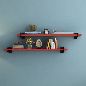 Ryter Shelves - Set Of 2 (Red, 3.5' Shelves_Width)