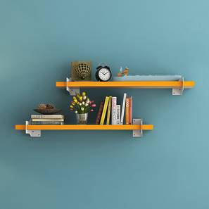 Ryter Shelves - Set Of 2 (Yellow, 2.5' Shelves_Width)