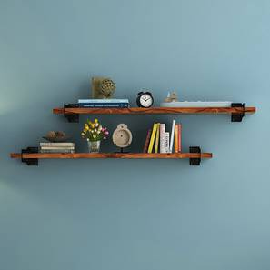 Ryter Shelves - Set Of 2 (3.5' Shelf Width, Teak)