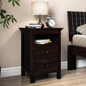 Snooze Tall Bedside Table (Mahogany Finish)