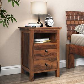 Snooze Tall Bedside Table (Teak Finish)