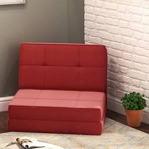 Desso Futon Sofa Cum Bed (Rust Red, One Seater Configuration)