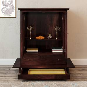 Devoto Prayer Cabinet (Mahogany Finish, With Drawer Configuration)