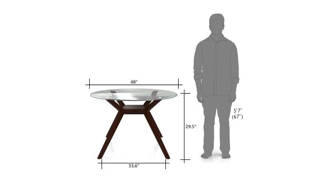Wesley 4 Seater Round Glass Top Dining Table Urban Ladder : Wesley4seaterglasstopdiningtable06 from www.urbanladder.com size 666 x 363 jpeg 21kB