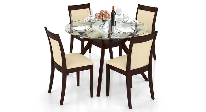 Wesley Dalla 4 Seater Round Glass Top Dining Table Set  : WesleyDala4SeaterRoundGlassTopDiningTableSetLL01 from www.urbanladder.com size 666 x 363 jpeg 55kB