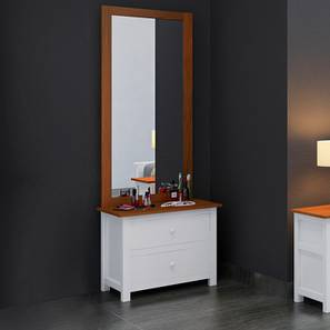 Evelyn Dressing Table With Mirror (White)