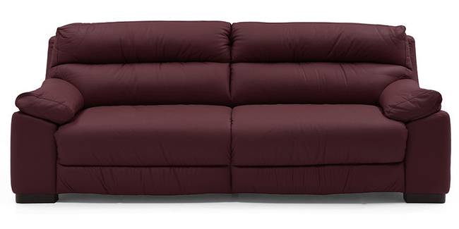 Thiene Sofa (Wine Italian Leather) (Regular Sofa Size, Regular Sofa Type, Leather Sofa Material, Wine)