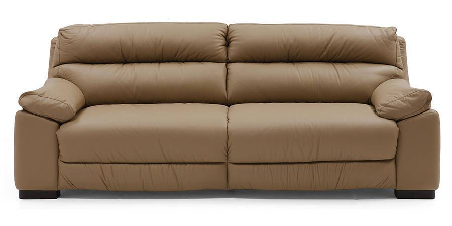 Thiene Sofa (Camel Italian Leather) (Camel, Regular Sofa Size, Regular Sofa