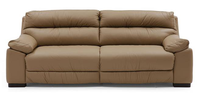 Thiene Sofa (Camel Italian Leather) (Camel, Regular Sofa Size, Regular Sofa Type, Leather Sofa Material)
