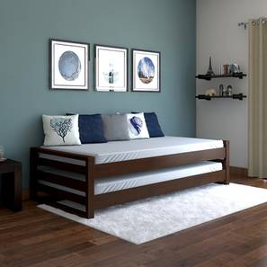 Yuri Stackable Bed Dark Walnut Finish