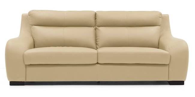 Vicenza Sofa (Cream Italian Leather) (Cream, Regular Sofa Size, Regular Sofa Type, Leather Sofa Material)