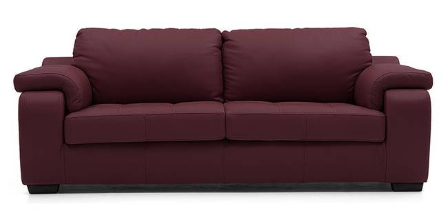 Trissino Sofa (Wine Italian Leather) (Regular Sofa Size, Regular Sofa Type, Leather Sofa Material, Wine)